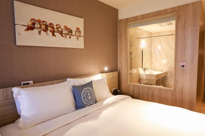 新竹安捷國際酒店-安捷一大床房