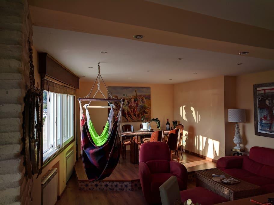 Salón desde la cocina Living room from the Kitchen Wohnzimmer aus der Küche