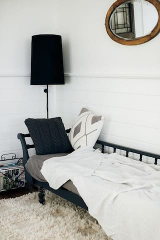Day bed- perfect for relaxing after walking to the the cafes and boutiques