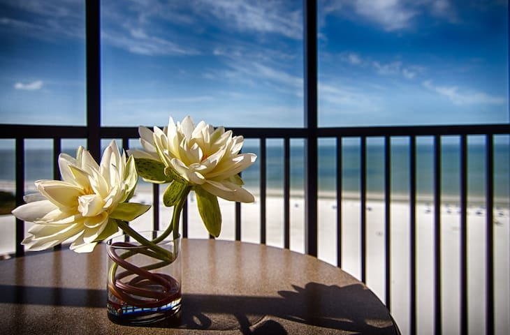Your furnished balcony or terrace is the perfect place to relax after a wonderful day (views vary).