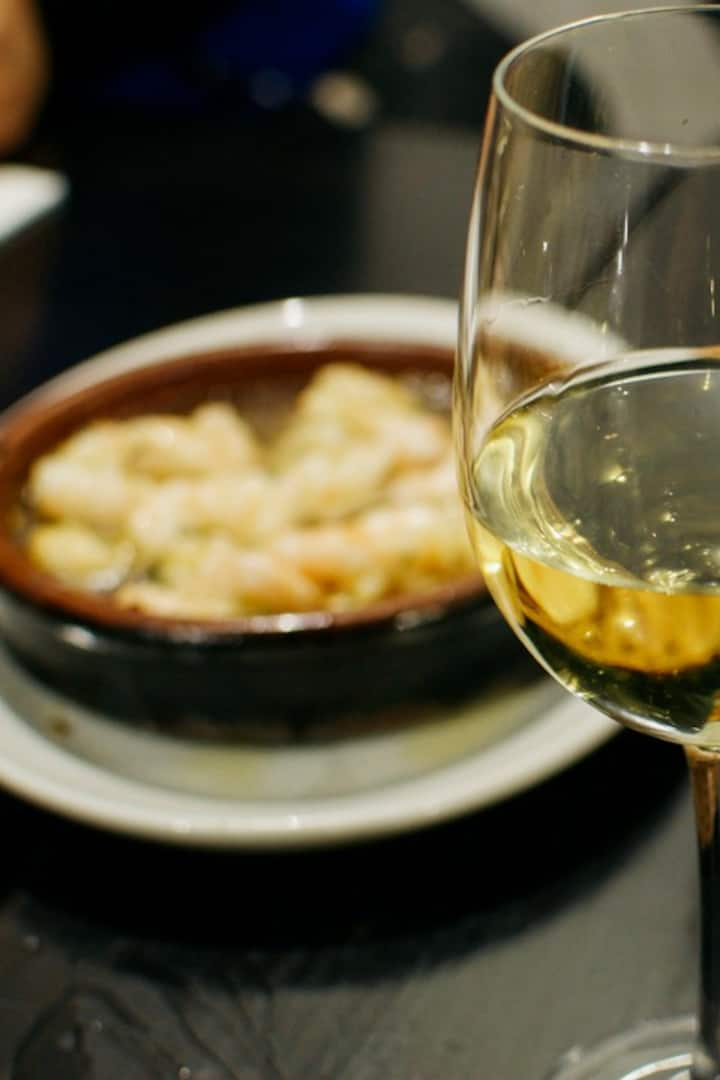 Local tapas in Madrid paired wine