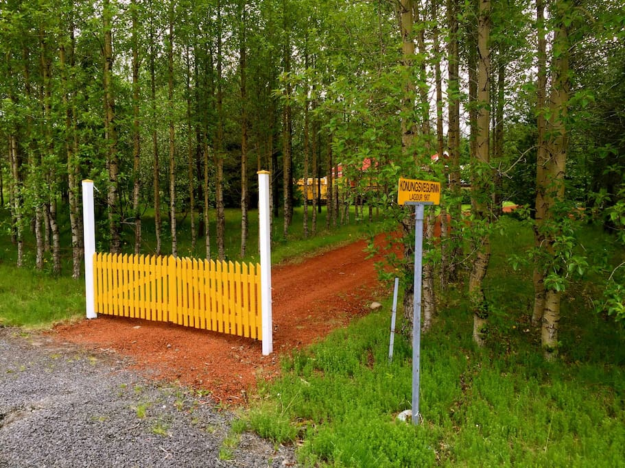 The gate to the private land that the cabin is on.