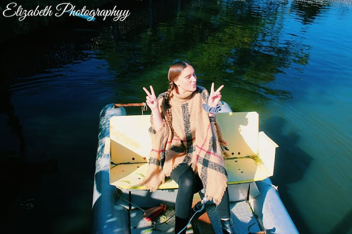 Ride the Paddle Boats.