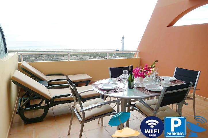 Luxury Apartment Balcony of Jandía with wifi free