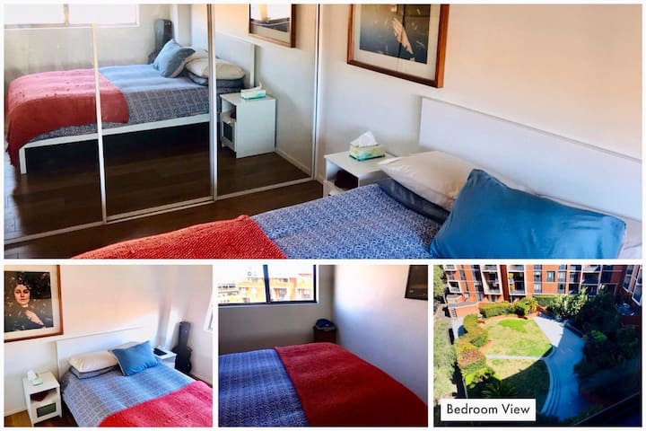 Bright Private Bedroom close to the City