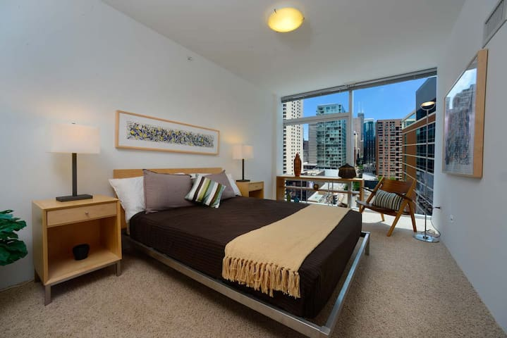 Spacious 1BD in the Heart of Downtown Evanston - Evanston - Appartement en résidence