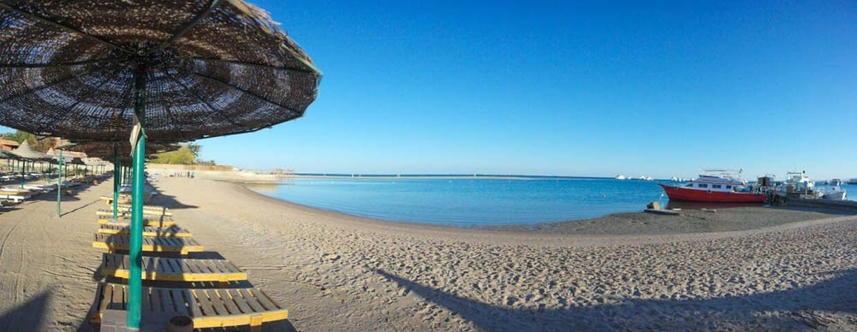 apartmen front free beach - Hurghada - Bungalov