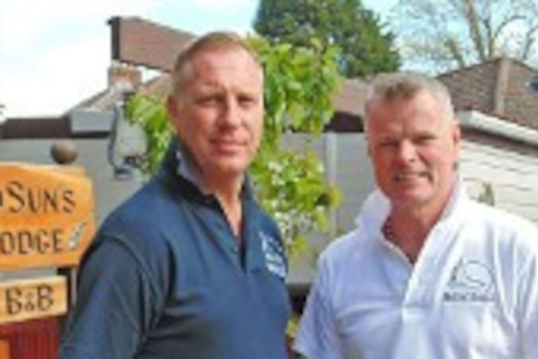 Karl & David at their prize winning business