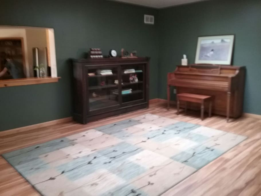 Living Area with piano