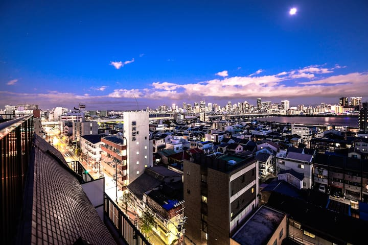 The Best Osaka NIGHT View/ SKY Penthouse with 6BR