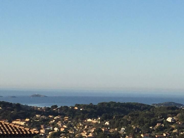 villa vue panoramique mer