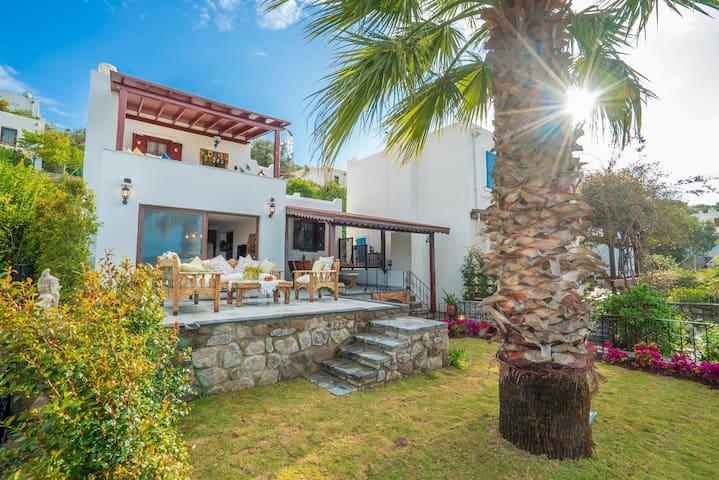 Luxury Summer Sea view Villa Turkbuku Bodrum for 8
