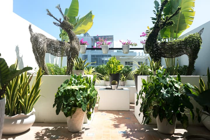 3BR Mansion - Beautiful roof terrace - Near beach