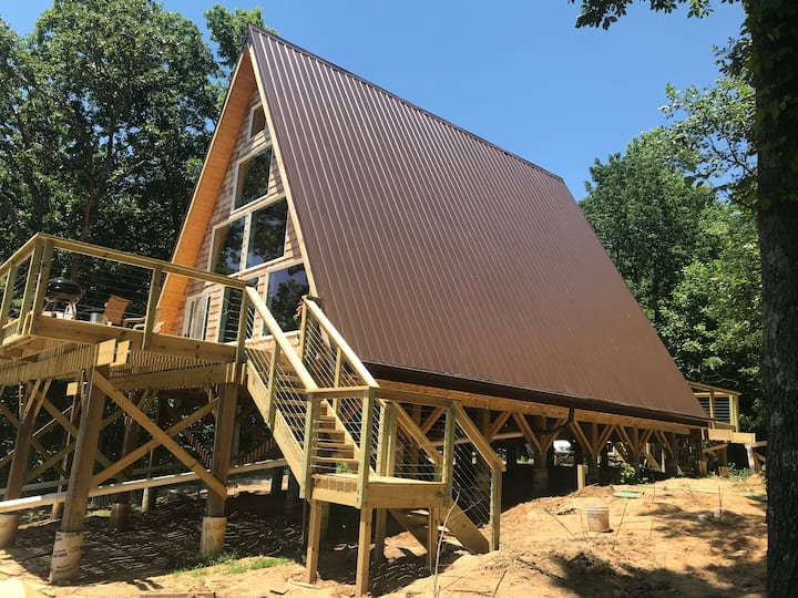 Beautiful hillside a-frame