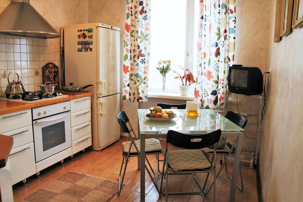 Kitchen, French stove and oven