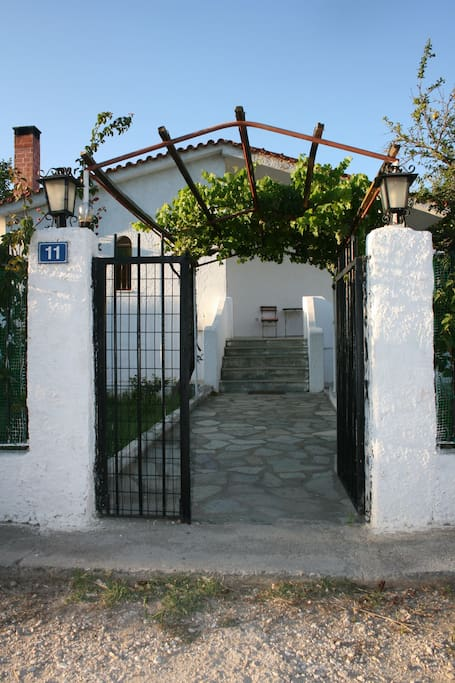 The entrance to the garden