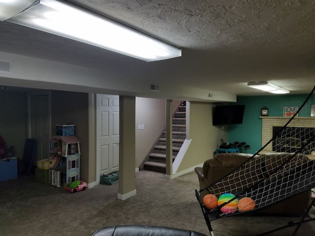 Downstairs play area