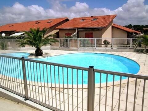Villa Patio avec piscine plage Santocha Capbreton