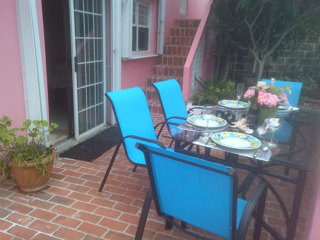 Dine on your private patio.