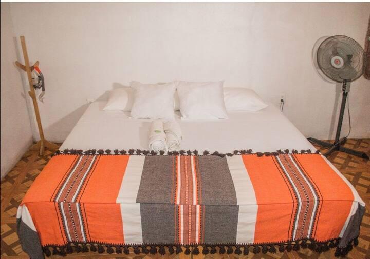Posada El Vela, room#1 king-size bed & A.C,mazunte
