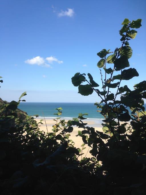 Crantok, the beach behind the flat