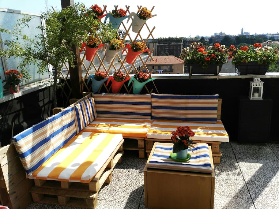Angolo relax sul terrazzo