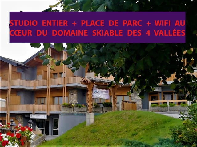 rent studio in the ski resort of nendaz verbier