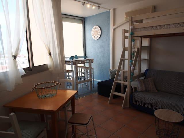 Studio 3 pers. Vue sur mer et situation idéale!