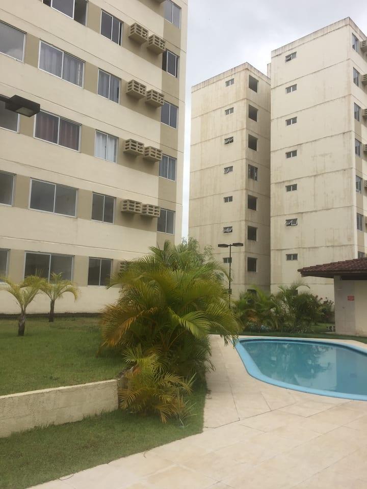 Apartamento mobiliado,com ar e Wi-Fi....