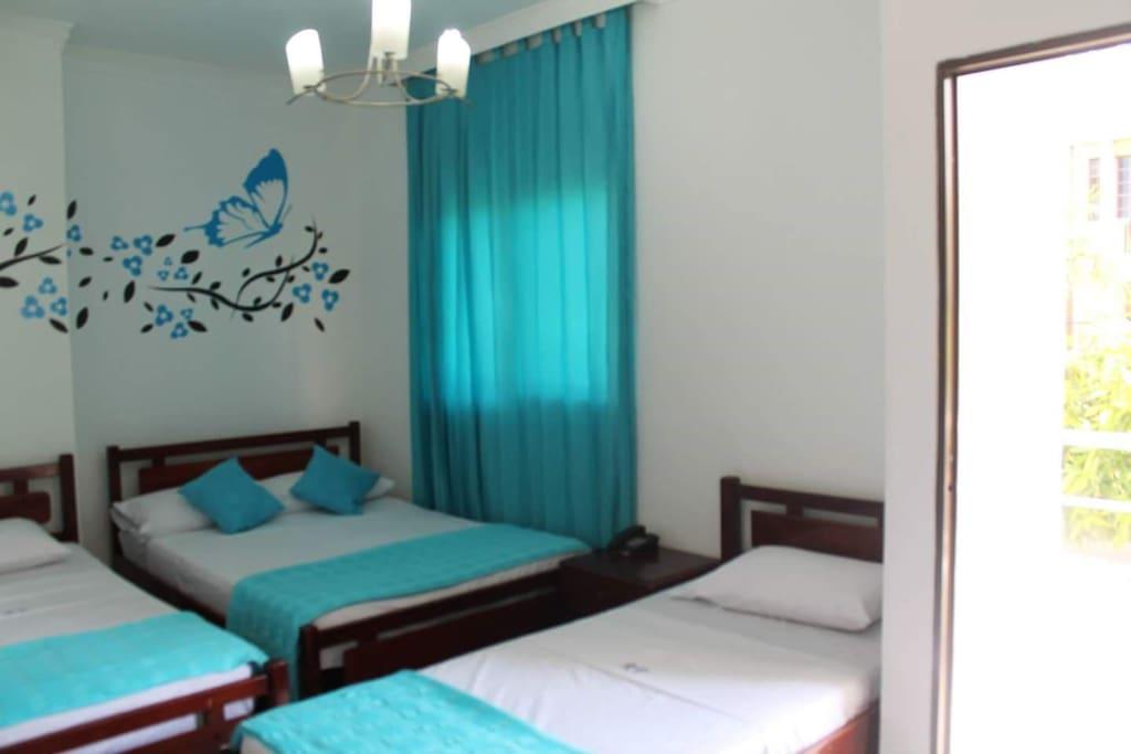 Cómodas habitaciones con aire acondicionado