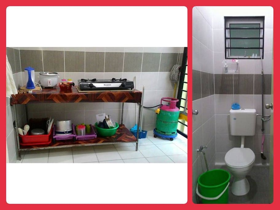Kitchen and Toilet