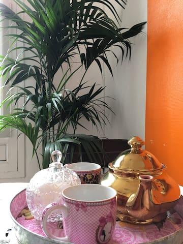 Détail service de thé