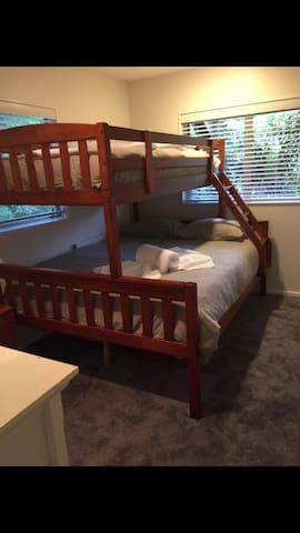 Bedroom #2 queen/king single bunk beds