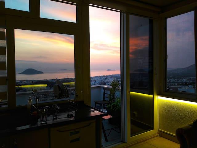 Bodrum/Turgutreis Penthouse with Sea View