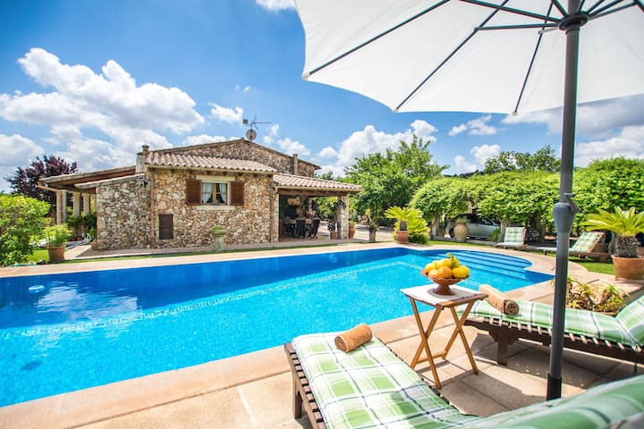 Beautiful stone house with a private swimming pool and a large garden
