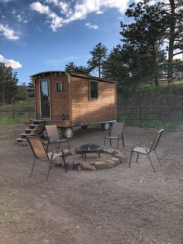 Trolley Car Tiny House in the Mountains