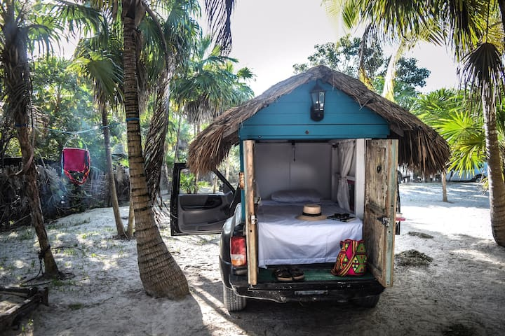 Beachfront Tiny Living in Soliman Bay Tulum
