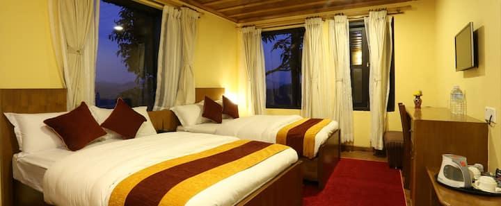 Spacious Quad Room in Balthali Mountain Resort