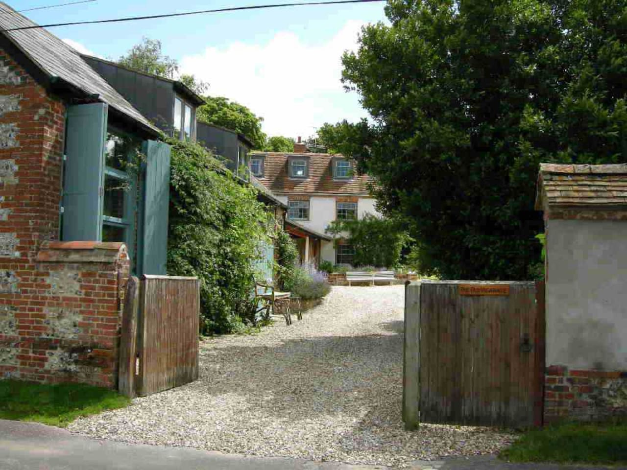 View from the lane Coach House on the left