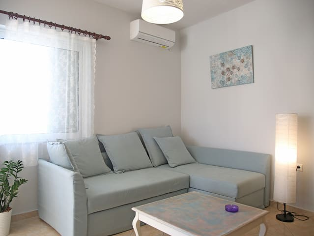 Living room with a bed-sofa for 2