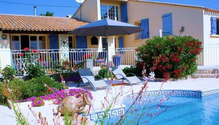 Pretty Villa with Pool, St Pons de Mauchiens