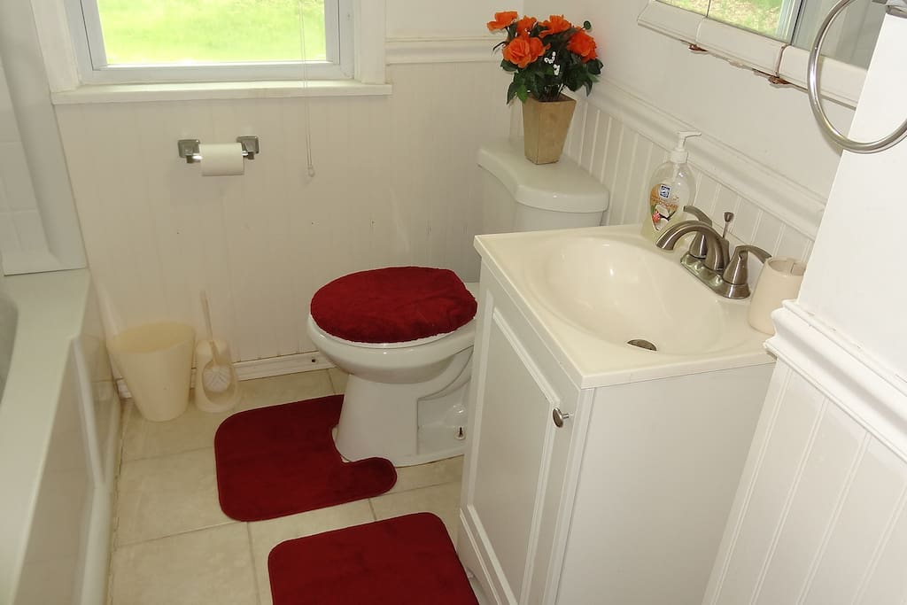 A private bathroom