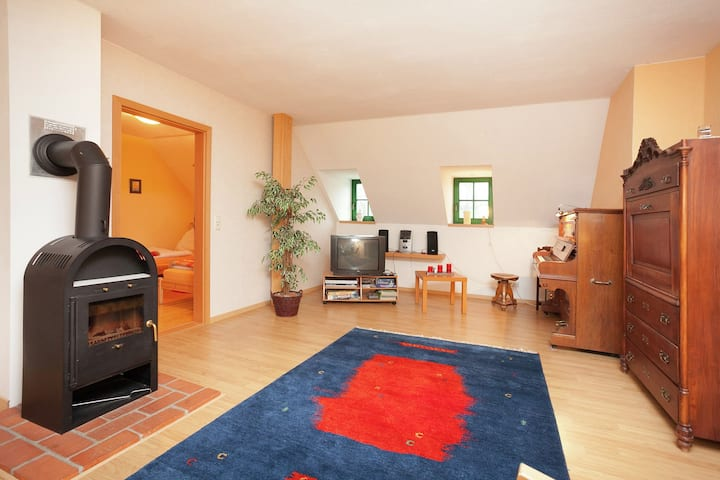 Beautiful apartment in the Ore Mountains with sauna and solarium in a top location