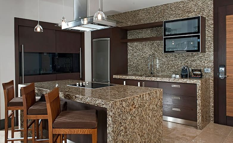 Gourmet Kitchen with everything you need to entertain guests.