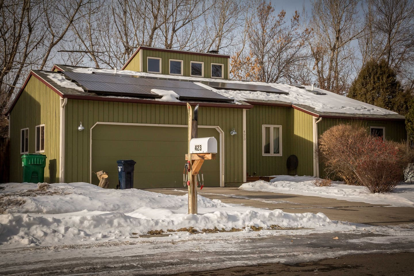Your vacation home is a single-level, solar-powered, put-your-feet-up dwelling!