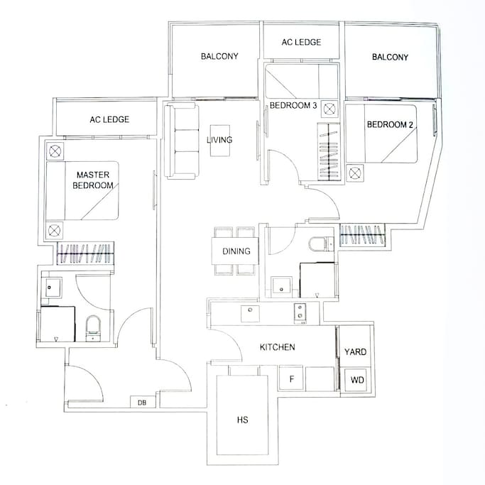 Floor plan of the apartment - Dual Key Concept