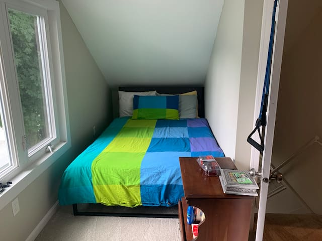 full size bed on 2nd floor