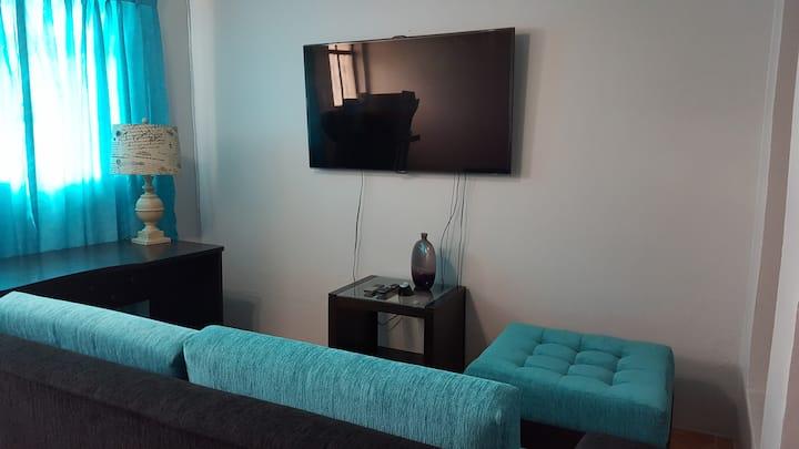 Apartamento equipado y amoblado