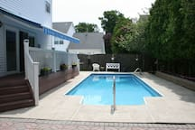 backyard with a opening pool