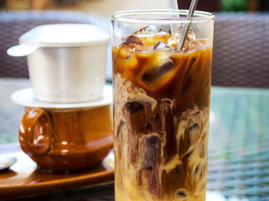 """ca phe sua da"" - vietnamese ice coffee with milk"